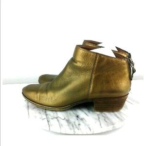 NEW Lucky Brand Gold Leather Booties